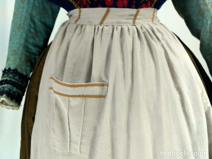 Antigüedades: Delantal de algodón antiguo - Foto 5 - 137298918