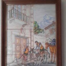 Antigüedades: ANTIGUO CUADRO DE CERAMICA DE TALAVERA. Lote 137306421