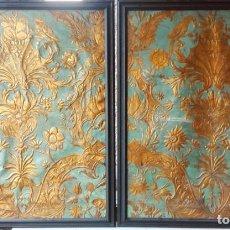 Antigüedades: PAREJA DE GUADAMECIES DEL SIGLO XVIII. ESPAÑOLES. Lote 137315814