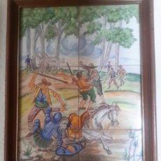 Antigüedades: ANTIGUO CUADRO DE CERAMICA DE TALAVERA. Lote 137319956