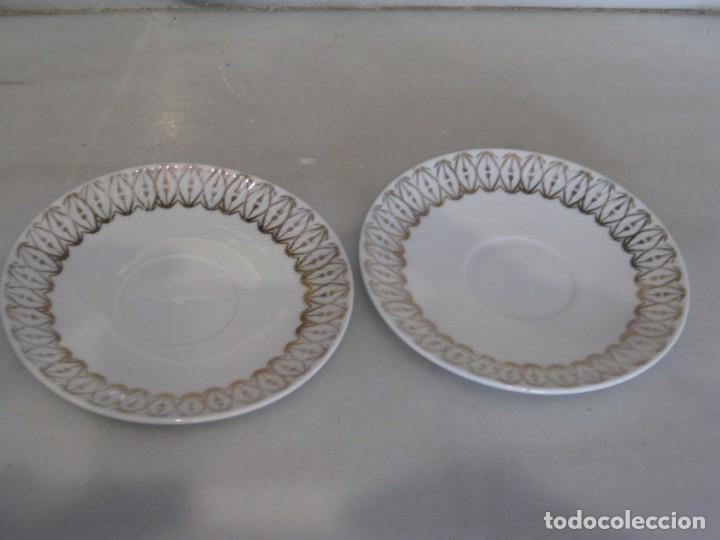 PAREJA DE PLATOS PEQUEÑOS SANTA CLARA - MAH-VIGO 12 CM (Antigüedades - Porcelanas y Cerámicas - Santa Clara)