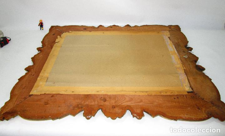 Antigüedades: GRAN ESPEJO ANTIGUO 95X75CM PRECIOSO MARCO MADERA ORO IDEAL RECIBIDOR O HABITACION - Foto 3 - 137345670