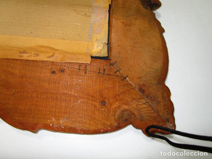 Antigüedades: GRAN ESPEJO ANTIGUO 95X75CM PRECIOSO MARCO MADERA ORO IDEAL RECIBIDOR O HABITACION - Foto 4 - 137345670