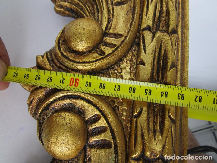Antigüedades: GRAN ESPEJO ANTIGUO 95X75CM PRECIOSO MARCO MADERA ORO IDEAL RECIBIDOR O HABITACION - Foto 7 - 137345670