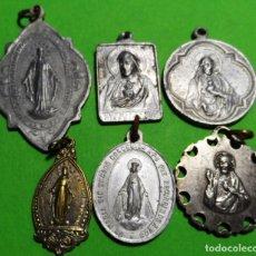Antigüedades: LOTE DE 6 MEDALLAS RELIGIOSAS . Lote 137349038