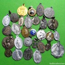 Antigüedades: LOTE DE 29 MEDALLAS RELIGIOSAS VARIADAS. Lote 137351586