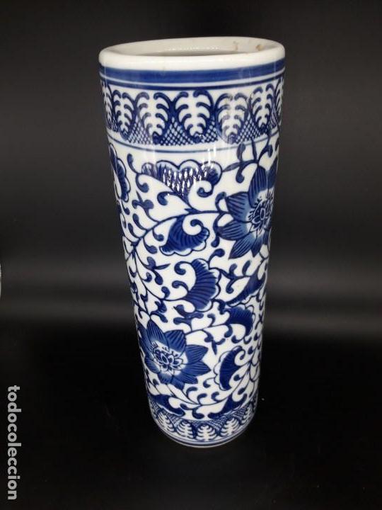 PORTA PINCELES CHINO (Antigüedades - Porcelanas y Cerámicas - China)