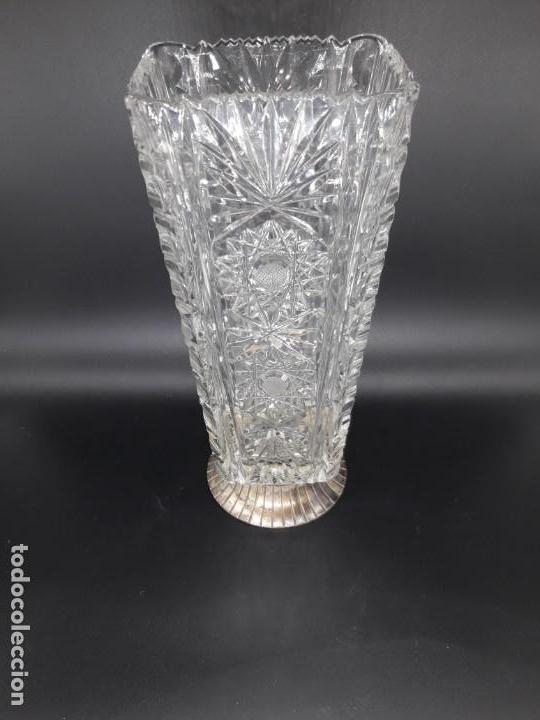 Antigüedades: Florero cristal y plata - Foto 3 - 136788602