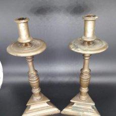 Antigüedades: PAREJA CANDELEROS BARROCOS. Lote 136802110