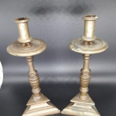 Antiquitäten - Pareja candeleros barrocos - 136802110