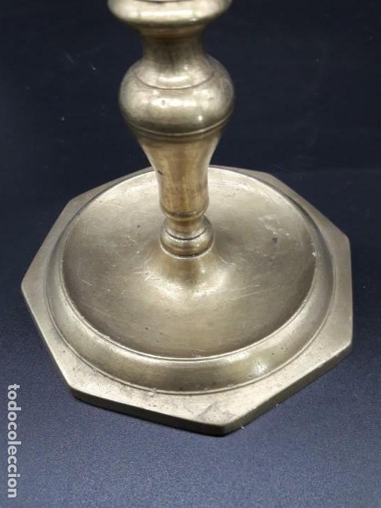 Antigüedades: Candelero torneado - Foto 2 - 136814562