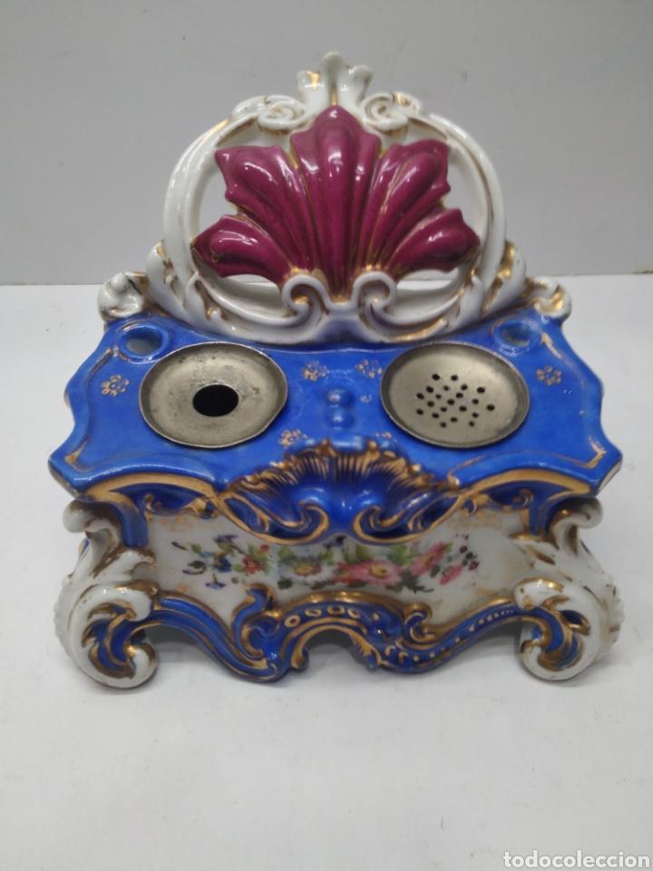 ESCRIBANIA PORCELANA VIEJO PARIS (Antigüedades - Porcelanas y Cerámicas - Otras)