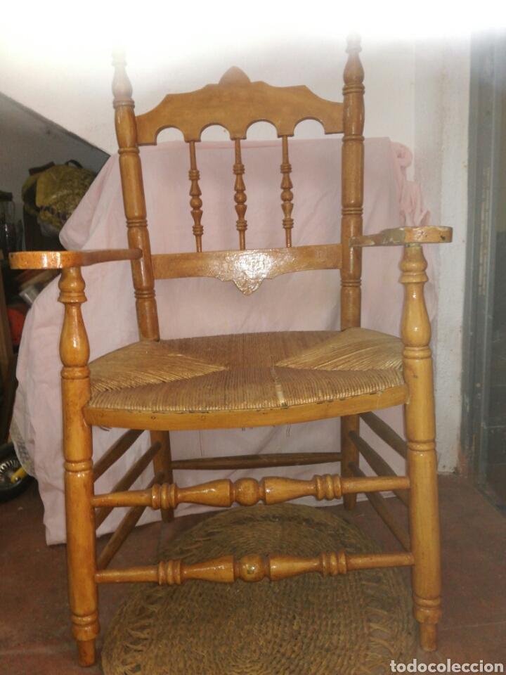 GRAN SILLON DE ENEA PARA RESTAURAR (Antigüedades - Muebles Antiguos - Sillones Antiguos)