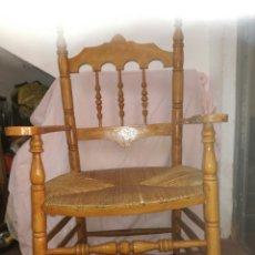 Antigüedades: GRAN SILLON DE ENEA PARA RESTAURAR. Lote 137395154