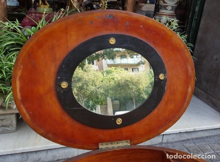 Antigüedades: COSTURERO. MADERA DE NOGAL. ESTILO IMPERIO. ESPAÑA. SIGLO XIX. - Foto 7 - 172069307