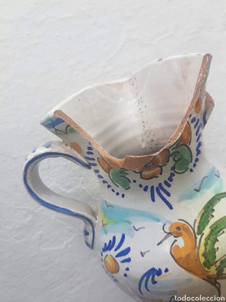 Antigüedades: ANTIGUA JARRA DE DOS ASAS CERAMICA DE TRIANA - Foto 2 - 137400146