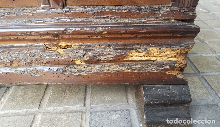 Antigüedades: ARCA CATALANA DE NOVIA. NOGAL CON INCRUSTACIONES DE BOJ. ESTILO BARROCO. SIGLO XVIII. - Foto 9 - 137421546