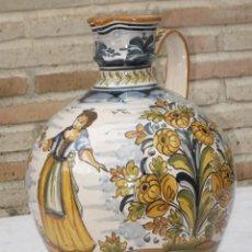 Antigüedades: CANTARO EN CERAMICA PINTADA Y VIDRIADA - PUENTE DEL ARZOBISPO( TOLEDO ) 1. Lote 137429038