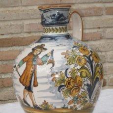 Antigüedades: CANTARO EN CERAMICA PINTADA Y VIDRIADA / PUENTE DEL ARZOBISPO ( TOLEDO ) 2. Lote 137429610