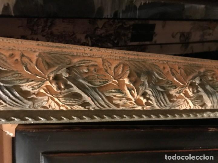 Antigüedades: LOTE DE MARCOS ANTIGUOS Y TALLADOS A MANO - Foto 11 - 110062779