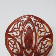 Antigüedades: ANTIGUA PEINETA SIMIL CAREY. AÑOS 30-40. Lote 137456854