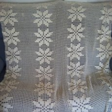 Antigüedades: * CORTINA DE GANCHILLFO. 1,20 M. (RF 533/*). Lote 137485054