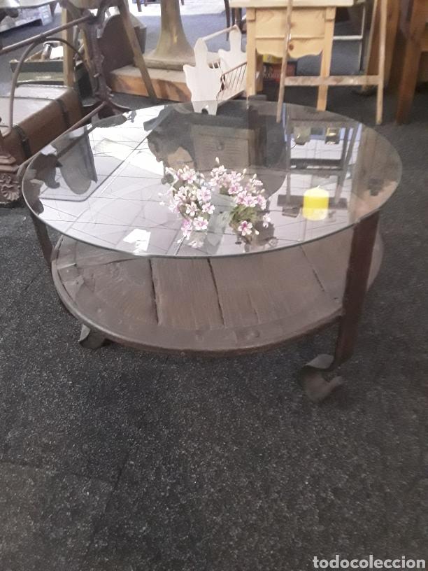 Antigüedades: Mesa de rueda de carro antiguo - Foto 5 - 137485545