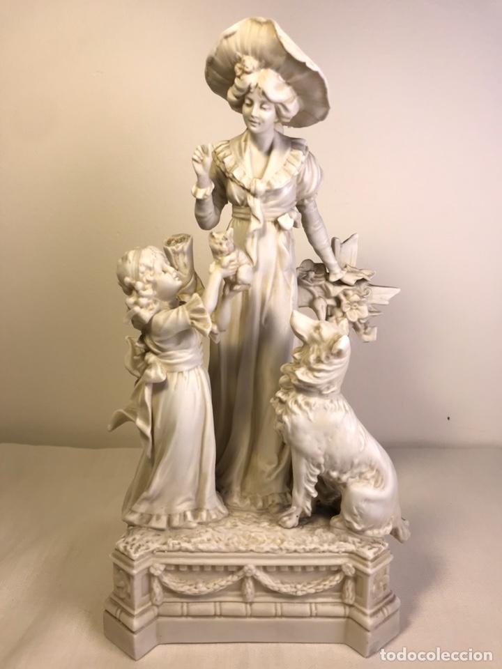 FIGURA PORCELANA BISCUIT- ALEMANIA-SCHEIBE ALSBACH- P.M. S. XX- 21 CM (Antigüedades - Porcelana y Cerámica - Alemana - Meissen)