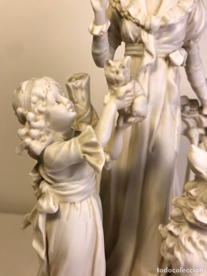Antigüedades: Figura Porcelana Biscuit- Alemania-Scheibe Alsbach- p.m. s. XX- 21 cm - Foto 4 - 133928311