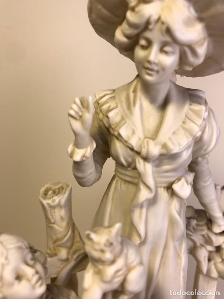 Antigüedades: Figura Porcelana Biscuit- Alemania-Scheibe Alsbach- p.m. s. XX- 21 cm - Foto 6 - 133928311