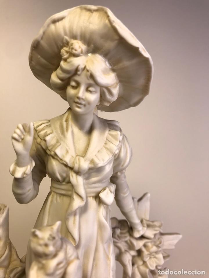 Antigüedades: Figura Porcelana Biscuit- Alemania-Scheibe Alsbach- p.m. s. XX- 21 cm - Foto 7 - 133928311
