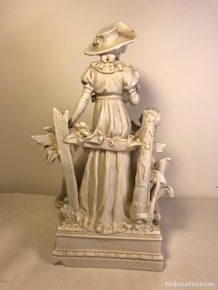 Antigüedades: Figura Porcelana Biscuit- Alemania-Scheibe Alsbach- p.m. s. XX- 21 cm - Foto 17 - 133928311