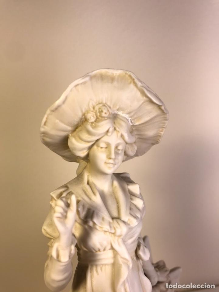 Antigüedades: Figura Porcelana Biscuit- Alemania-Scheibe Alsbach- p.m. s. XX- 21 cm - Foto 28 - 133928311