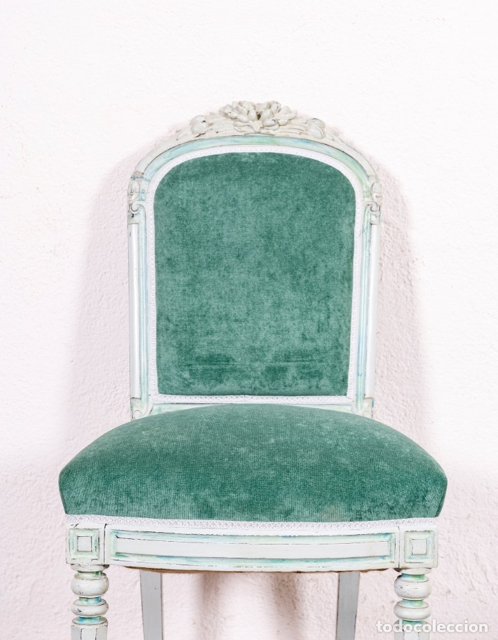 Antigüedades: Pareja De Sillas Restauradas Amelie - Foto 4 - 118474743