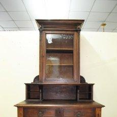 Antigüedades: ANTIGUO MUEBLE ESCRITORIO DE NOGAL, SIGLO XIX. Lote 137518618