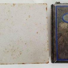 Antigüedades: POLVERA DE SEÑORA. METAL PLATEADO Y ESMALTE. SIGLO XIX-XX. . Lote 137519086