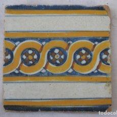 Antigüedades: AZULEJO ANTIGUO DE TALAVERA / TOLEDO - RENACIMIENTO - FINAL S/. XVI. - 1. Lote 137520518