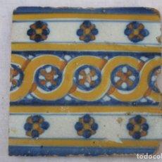 Antigüedades: AZULEJO ANTIGUO DE TALAVERA / TOLEDO - RENACIMIENTO - FINAL S/. XVI. - 2. Lote 137521034