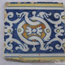 Antigüedades: AZULEJO ANTIGUO DE TALAVERA / TOLEDO - BARROCO - FINAL S/. XVIII.. Lote 137521986