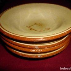 Antigüedades: LOTE DE ANTIGUOS PLATOS DE TERRACOTA. Lote 137532558