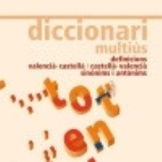 Diccionarios: DICCIONARI MULTIÚS. Lote 137551206
