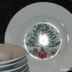 Antigüedades: GIBSON CHRISTMAS TREE PLATO HONDO. Lote 137571050