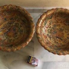 Antigüedades: LOTE DE 2 CENTROS DE MESA SATSUMA, EN PERFECTO ESTADO. Lote 137587086