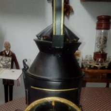 Antigüedades: FAROL- LAMPARA DE PETROLEO DE JEFE ESTACION DE FERROCARRIL DE HOJALATA- PPIO SIGLO XX - FUNCIONA. Lote 137587510