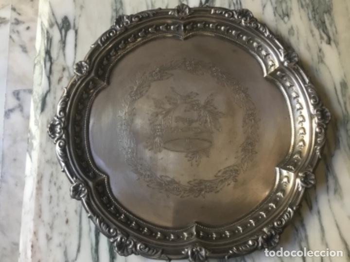 Antigüedades: Antiguo juego de té con bandeja EPNS ideal regalo de aniversario - Foto 8 - 111406279