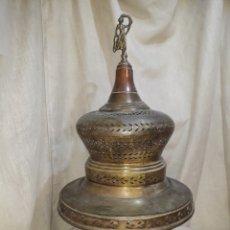 Antigüedades: BRASERO DE LATÓN Y COBRE ,. Lote 137605361