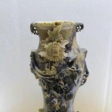 Antigüedades: JARRÓN PIEDRA DE JABÓN DE PANAMÁ. Lote 137608090