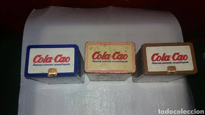 Antigüedades: LOTE 3 CAJAS COLACAO HOJALATA. - Foto 3 - 137657002