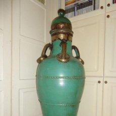 Antigüedades: POTE JARRÓN GRAN (140 CM) - MANIJAS Y BASE EN METAL - ESPANHA - 1940. Lote 137662990
