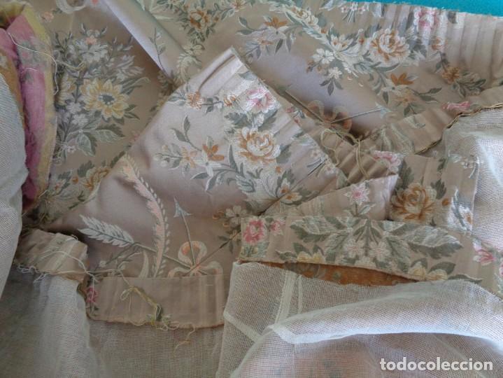 Antigüedades: Tela brocada vestimenta fallera- Traje regional valenciano - para hacer una falda - Foto 10 - 137668526